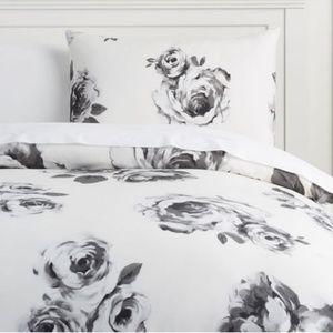 PB Teen Emily & Meritt Bed of Roses Duvet and Sham
